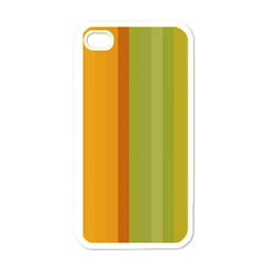 Colorful Citrus Colors Striped Background Wallpaper Apple Iphone 4 Case (white) by Simbadda