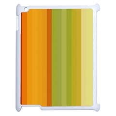 Colorful Citrus Colors Striped Background Wallpaper Apple Ipad 2 Case (white) by Simbadda