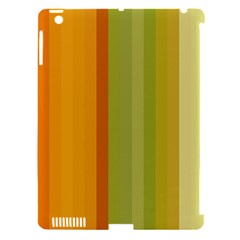 Colorful Citrus Colors Striped Background Wallpaper Apple Ipad 3/4 Hardshell Case (compatible With Smart Cover) by Simbadda