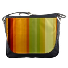 Colorful Citrus Colors Striped Background Wallpaper Messenger Bags by Simbadda