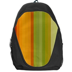 Colorful Citrus Colors Striped Background Wallpaper Backpack Bag by Simbadda
