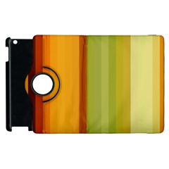 Colorful Citrus Colors Striped Background Wallpaper Apple Ipad 2 Flip 360 Case by Simbadda