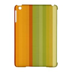 Colorful Citrus Colors Striped Background Wallpaper Apple Ipad Mini Hardshell Case (compatible With Smart Cover) by Simbadda