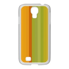 Colorful Citrus Colors Striped Background Wallpaper Samsung Galaxy S4 I9500/ I9505 Case (white) by Simbadda