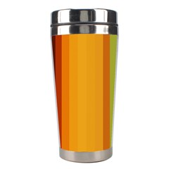 Colorful Citrus Colors Striped Background Wallpaper Stainless Steel Travel Tumblers by Simbadda