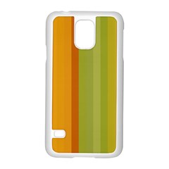 Colorful Citrus Colors Striped Background Wallpaper Samsung Galaxy S5 Case (white) by Simbadda