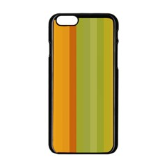 Colorful Citrus Colors Striped Background Wallpaper Apple iPhone 6/6S Black Enamel Case
