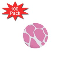Baby Pink Girl Pattern Colorful Background 1  Mini Buttons (100 Pack)  by Simbadda