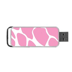 Baby Pink Girl Pattern Colorful Background Portable Usb Flash (two Sides) by Simbadda