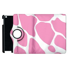 Baby Pink Girl Pattern Colorful Background Apple Ipad 2 Flip 360 Case by Simbadda