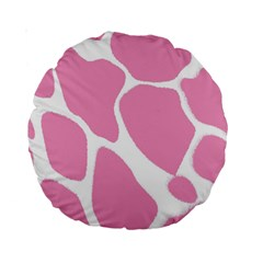 Baby Pink Girl Pattern Colorful Background Standard 15  Premium Round Cushions by Simbadda