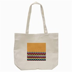Chevrons Patterns Colorful Stripes Background Art Digital Tote Bag (cream) by Simbadda