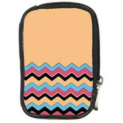 Chevrons Patterns Colorful Stripes Background Art Digital Compact Camera Cases by Simbadda
