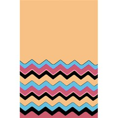 Chevrons Patterns Colorful Stripes Background Art Digital 5 5  X 8 5  Notebooks by Simbadda