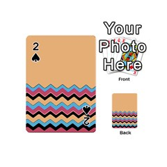 Chevrons Patterns Colorful Stripes Background Art Digital Playing Cards 54 (mini)  by Simbadda