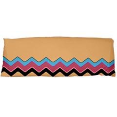 Chevrons Patterns Colorful Stripes Background Art Digital Body Pillow Case Dakimakura (two Sides) by Simbadda