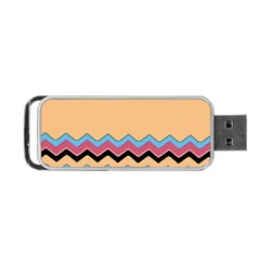 Chevrons Patterns Colorful Stripes Background Art Digital Portable Usb Flash (one Side) by Simbadda