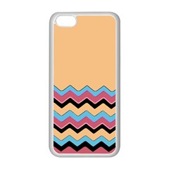 Chevrons Patterns Colorful Stripes Background Art Digital Apple Iphone 5c Seamless Case (white) by Simbadda