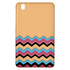 Chevrons Patterns Colorful Stripes Background Art Digital Samsung Galaxy Tab Pro 8 4 Hardshell Case by Simbadda