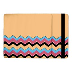 Chevrons Patterns Colorful Stripes Background Art Digital Samsung Galaxy Tab Pro 10 1  Flip Case by Simbadda
