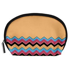 Chevrons Patterns Colorful Stripes Background Art Digital Accessory Pouches (large)  by Simbadda
