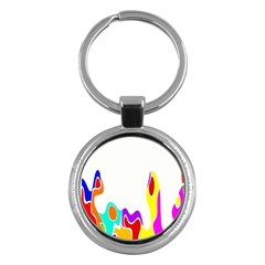 Simple Abstract With Copyspace Key Chains (round)  by Simbadda