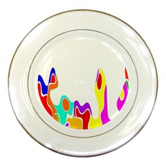 Simple Abstract With Copyspace Porcelain Plates by Simbadda