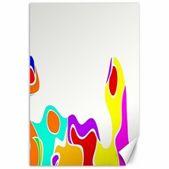Simple Abstract With Copyspace Canvas 24  X 36  by Simbadda