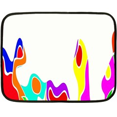 Simple Abstract With Copyspace Fleece Blanket (mini) by Simbadda