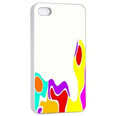 Simple Abstract With Copyspace Apple Iphone 4/4s Seamless Case (white) by Simbadda