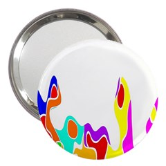 Simple Abstract With Copyspace 3  Handbag Mirrors by Simbadda