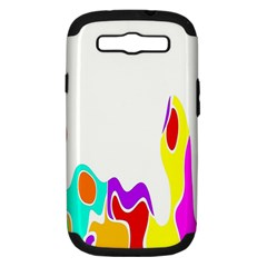 Simple Abstract With Copyspace Samsung Galaxy S Iii Hardshell Case (pc+silicone) by Simbadda