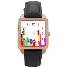 Simple Abstract With Copyspace Rose Gold Leather Watch  by Simbadda