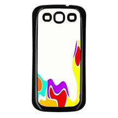 Simple Abstract With Copyspace Samsung Galaxy S3 Back Case (black) by Simbadda