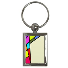 Digitally Created Abstract Page Border With Copyspace Key Chains (rectangle)  by Simbadda