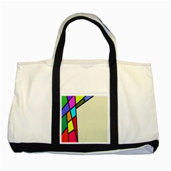 Digitally Created Abstract Page Border With Copyspace Two Tone Tote Bag by Simbadda
