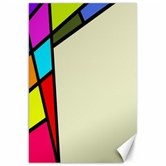Digitally Created Abstract Page Border With Copyspace Canvas 20  X 30   by Simbadda