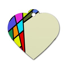 Digitally Created Abstract Page Border With Copyspace Dog Tag Heart (one Side) by Simbadda