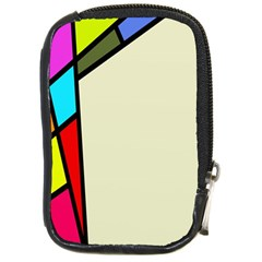 Digitally Created Abstract Page Border With Copyspace Compact Camera Cases by Simbadda