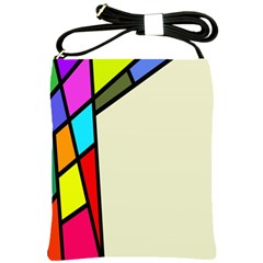 Digitally Created Abstract Page Border With Copyspace Shoulder Sling Bags by Simbadda
