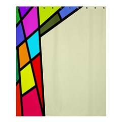 Digitally Created Abstract Page Border With Copyspace Shower Curtain 60  X 72  (medium)  by Simbadda