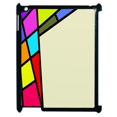 Digitally Created Abstract Page Border With Copyspace Apple Ipad 2 Case (black) by Simbadda