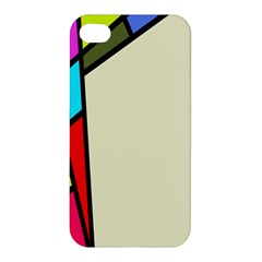 Digitally Created Abstract Page Border With Copyspace Apple Iphone 4/4s Hardshell Case by Simbadda
