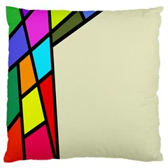Digitally Created Abstract Page Border With Copyspace Large Cushion Case (Two Sides)