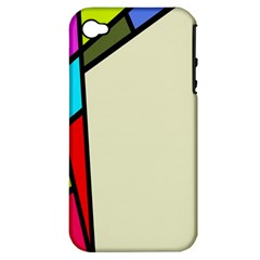 Digitally Created Abstract Page Border With Copyspace Apple Iphone 4/4s Hardshell Case (pc+silicone) by Simbadda