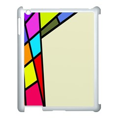 Digitally Created Abstract Page Border With Copyspace Apple Ipad 3/4 Case (white) by Simbadda