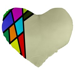 Digitally Created Abstract Page Border With Copyspace Large 19  Premium Heart Shape Cushions by Simbadda
