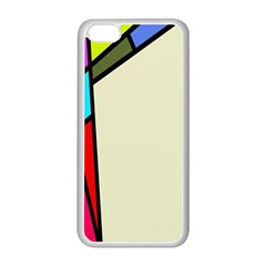 Digitally Created Abstract Page Border With Copyspace Apple Iphone 5c Seamless Case (white) by Simbadda
