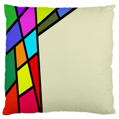 Digitally Created Abstract Page Border With Copyspace Large Flano Cushion Case (one Side) by Simbadda
