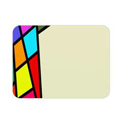 Digitally Created Abstract Page Border With Copyspace Double Sided Flano Blanket (mini)  by Simbadda